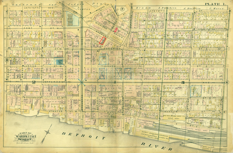 Detroit Map on